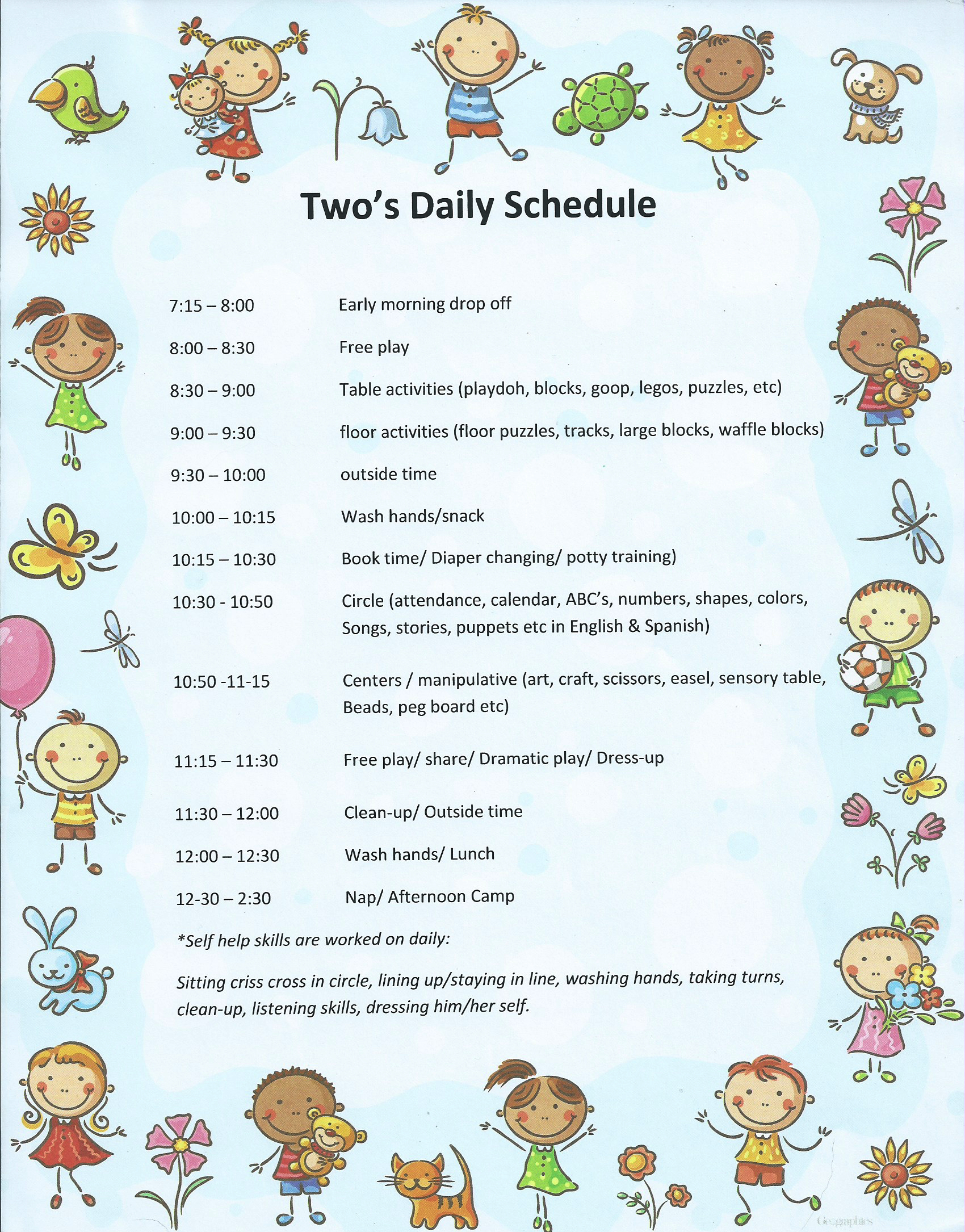 Two's Daily Schedule-1