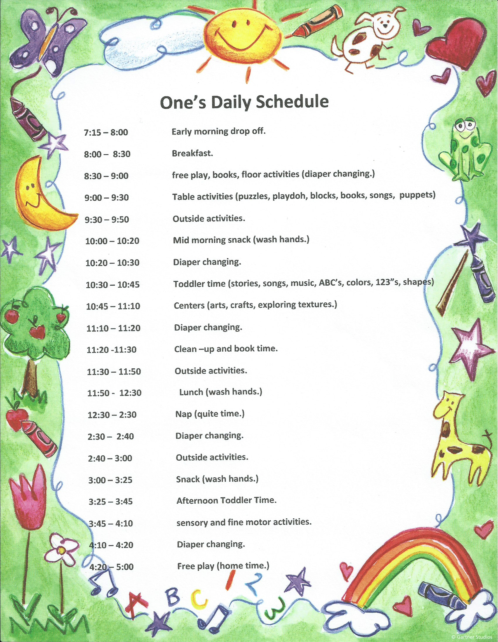 Two's Daily Schedule